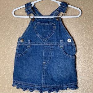 Arizona baby girl jean overalls dress